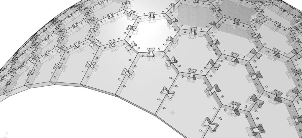 DTC Recycleshell Diemerstein Demonstrator, Algorithm-generated CAD model